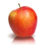 Perfect isolated red apple Stock Photos