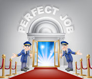 Perfect Job Red Carpet Entrance Stock Photo