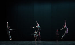 Perfect jump-Classical ballet `Austen collection` Stock Image
