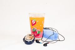 Perfect kit for and after jogging. All you need during and after jogging Stock Photo