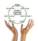 Perfect klienta cykl życia fotografia royalty free