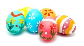 Perfect kolorowi handmade Easter jajka Zdjęcia Stock