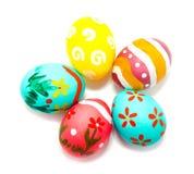 Perfect kolorowi handmade Easter jajka Obraz Stock