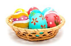 Perfect kolorowi handmade Easter jajka Obrazy Stock