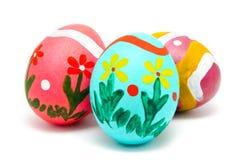 Perfect kolorowi handmade Easter jajka Zdjęcie Royalty Free