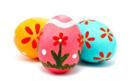 Perfect kolorowi handmade Easter jajka Fotografia Royalty Free