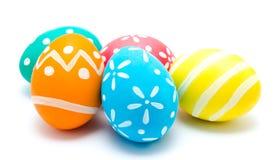 Perfect kolorowi handmade Easter jajka Zdjęcie Stock