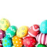 Perfect kolorowi handmade Easter jajka odizolowywający obraz royalty free