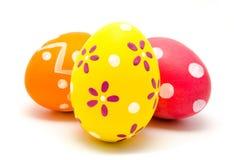 Perfect kolorowi handmade Easter jajka odizolowywający Obrazy Royalty Free