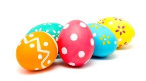 Perfect kolorowi handmade Easter jajka odizolowywający Zdjęcie Stock