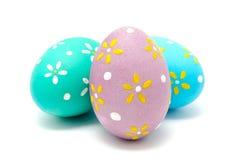 Perfect kolorowi handmade Easter jajka odizolowywający Zdjęcia Stock