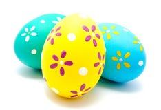 Perfect kolorowi handmade Easter jajka odizolowywający Obrazy Stock