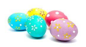 Perfect kolorowi handmade Easter jajka odizolowywający Fotografia Royalty Free