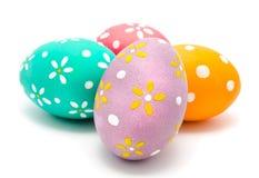 Perfect kolorowi handmade Easter jajka odizolowywający Zdjęcie Royalty Free