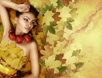 Perfect lady Autumn royalty free stock image