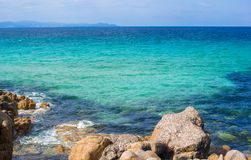 Perfect lagoon with turquoise water Royalty Free Stock Photos