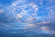 Perfect  light white clouds in the blue sky Stock Photos