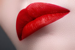 Perfect Lips. girl mouth close up. Beauty young woman smile Stock Image