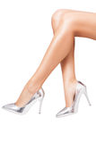 Perfect luxury shoes on elegant legs Royalty Free Stock Images
