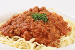 Perfect made meat pasta Royalty Free Stock Photo