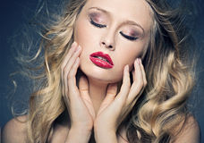 Perfect make-up of young lady Royalty Free Stock Photo