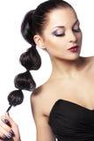 Perfect makeup. Closeup portrait of beautiful face with perfect makeup Stock Photo