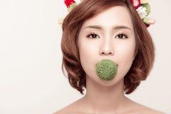 Perfect Makeup Piękno moda Wiosna azjata kobieta Obrazy Stock