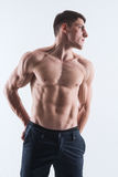 Perfect male body-athlete Stock Image