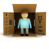 Perfect male husband product delivery Stock Images