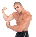 perfect male muskulöst för huvuddel royaltyfri fotografi
