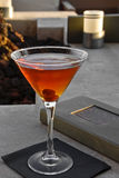 Perfect Manhattan. Cocktail in a martini glass Stock Photography