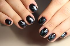 Perfect manicure and natural nails. Royalty Free Stock Photography