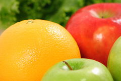 Perfect meal for today people. Fresh organic fruits rich in fiber and antioxidants Stock Photos