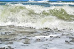 perfect Mediterranean sea wave Royalty Free Stock Images