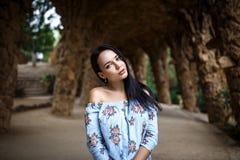 Perfect meisje met een mooi gezicht royalty-vrije stock foto's