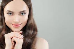Perfect model woman face closeup portrait royalty free stock photo