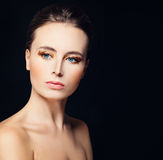 Perfect Model Woman with Healthy Skin Stock Photo