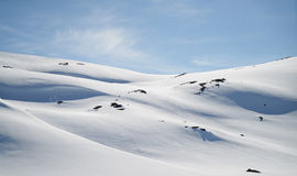 Perfect moment. Perfect snow at a Sognefjellet mountain Royalty Free Stock Photography