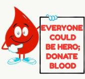 Perfect motievencitaat voor bloeddonatiecampagne vector illustratie
