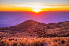 Perfect Mountain Sunset Royalty Free Stock Images