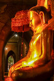 Perfect mystical buddha lit by late afternoon sun side view Royalty Free Stock Image