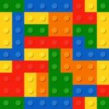 Perfect naadloos patroon van plastic delen De kleuren trekken t-mengeling met elkaar aan Royalty-vrije Stock Afbeelding