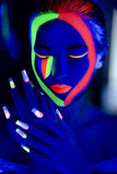 Perfect neon art make up Royalty Free Stock Photography