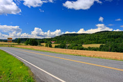 Perfect Norway road Royalty Free Stock Image