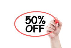 50 perfect off discount Royalty Free Stock Image