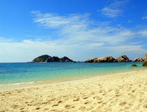 Perfect Okinawan Beach. Stunning Beach on the Pacific Ocean Stock Images