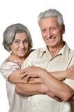 Perfect old couple Royalty Free Stock Photography