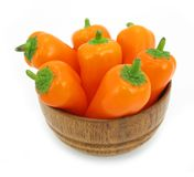 Perfect paprikas in a bowl Royalty Free Stock Images