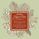 Perfect pasta label template Stock Images