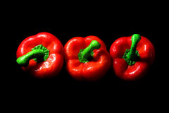 Perfect pepper with drops of water Stock Photography
